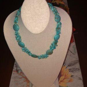 Chico's turquoise necklace medium length.